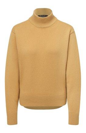 Женский кашемировый пуловер LORO PIANA желтого цвета, арт. FAL7639   Фото 1