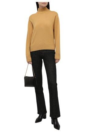 Женский кашемировый пуловер LORO PIANA желтого цвета, арт. FAL7639   Фото 2 (Материал внешний: Шерсть, Кашемир; Стили: Кэжуэл; Женское Кросс-КТ: Пуловер-одежда; Рукава: Длинные; Длина (для топов): Стандартные)