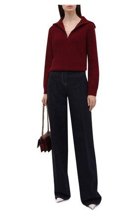 Женский кашемировый свитер LORO PIANA бордового цвета, арт. FAL7055   Фото 2