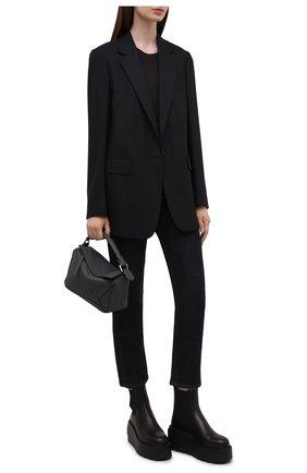 Женские кожаные ботинки uniqueform VALENTINO черного цвета, арт. WW2S0AP7/RBJ | Фото 2 (Каблук высота: Высокий; Материал внутренний: Натуральная кожа; Подошва: Платформа; Женское Кросс-КТ: Челси-ботинки)