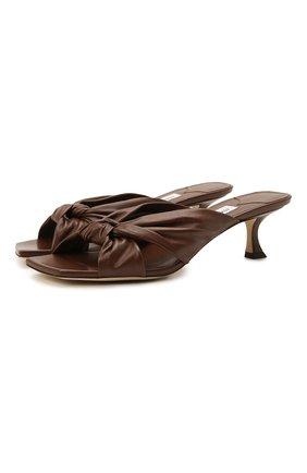 Женские кожаные мюли avenue 50 JIMMY CHOO коричневого цвета, арт. AVENUE 50/NAP | Фото 1