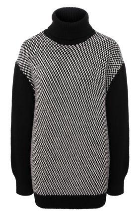 Женский кашемировый свитер KITON черного цвета, арт. D52760X0479A   Фото 1 (Материал внешний: Шерсть, Кашемир; Длина (для топов): Стандартные; Рукава: Длинные; Стили: Кэжуэл; Женское Кросс-КТ: Свитер-одежда)