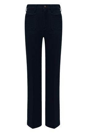 Женские хлопковые брюки POLO RALPH LAUREN синего цвета, арт. 211843365 | Фото 1