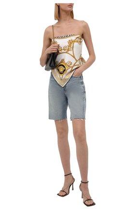 Женский шелковый платок VERSACE белого цвета, арт. 1001600/1A01278 | Фото 2