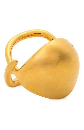 Женское кольцо BOTTEGA VENETA золотого цвета, арт. 665755/VAHU0 | Фото 1 (Материал: Серебро)