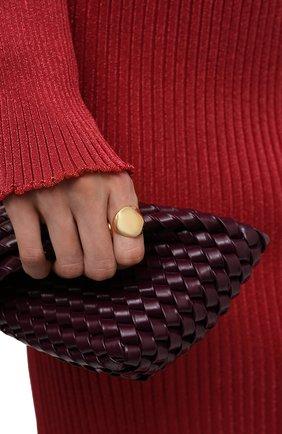 Женское кольцо BOTTEGA VENETA золотого цвета, арт. 665755/VAHU0 | Фото 2 (Материал: Серебро)