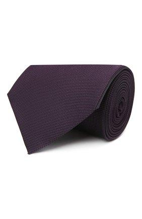 Мужской шелковый галстук ERMENEGILDO ZEGNA фиолетового цвета, арт. Z2D00T/1XW | Фото 1 (Материал: Шелк, Текстиль; Принт: Без принта)