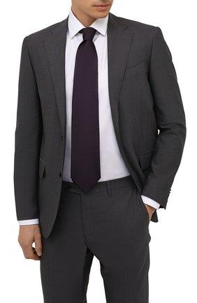 Мужской шелковый галстук ERMENEGILDO ZEGNA фиолетового цвета, арт. Z2D00T/1XW | Фото 2 (Материал: Шелк, Текстиль; Принт: Без принта)