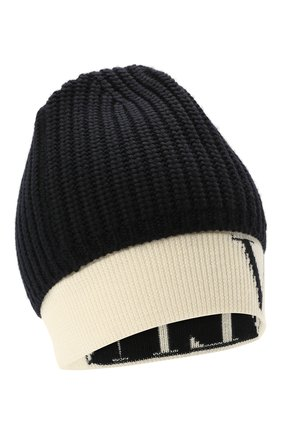 Мужская шерстяная шапка VALENTINO темно-синего цвета, арт. WY2HB00U/VKY   Фото 1