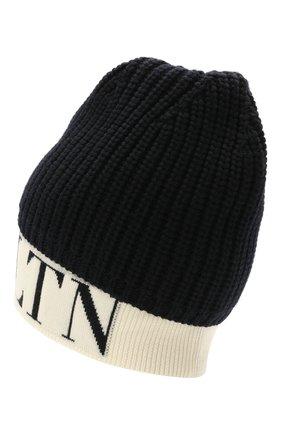Мужская шерстяная шапка VALENTINO темно-синего цвета, арт. WY2HB00U/VKY   Фото 2