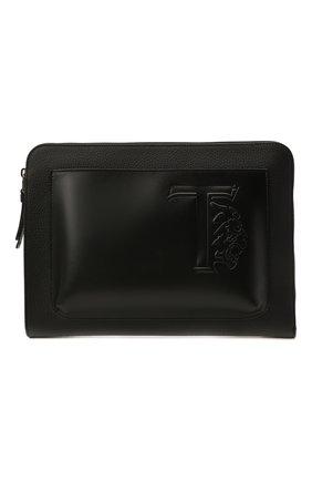 Мужская кожаная папка для документов TOD'S черного цвета, арт. XBMTRVD8200PXD | Фото 1