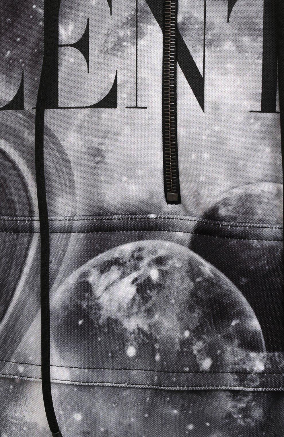 Мужской худи VALENTINO черного цвета, арт. WV3MF19H7M6 | Фото 5 (Рукава: Длинные; Материал внешний: Синтетический материал; Длина (для топов): Стандартные; Принт: С принтом; Мужское Кросс-КТ: Худи-одежда; Стили: Спорт-шик)