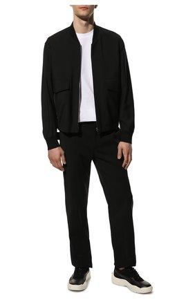 Мужские кожаные кроссовки gumboy VALENTINO черного цвета, арт. WY2S0B17/VRN | Фото 2