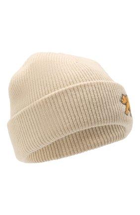 Мужская шерстяная шапка acne studios x grant levy-lucero ACNE STUDIOS светло-бежевого цвета, арт. C40200/M   Фото 1 (Материал: Шерсть; Кросс-КТ: Трикотаж)