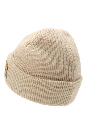 Мужская шерстяная шапка acne studios x grant levy-lucero ACNE STUDIOS светло-бежевого цвета, арт. C40200/M   Фото 2 (Материал: Шерсть; Кросс-КТ: Трикотаж)