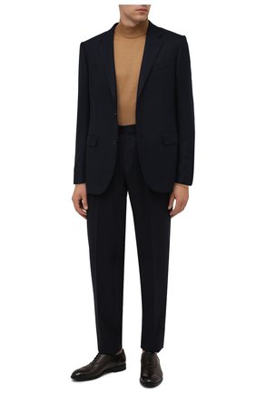 Мужские кожаные оксфорды ERMENEGILDO ZEGNA темно-коричневого цвета, арт. A4994X-LHNAX | Фото 2 (Материал внутренний: Натуральная кожа; Стили: Классический)