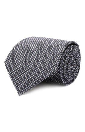 Мужской шелковый галстук BRIONI синего цвета, арт. 062I00/01422 | Фото 1 (Материал: Шелк, Текстиль; Принт: С принтом)