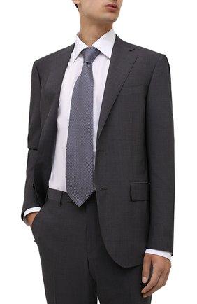 Мужской шелковый галстук BRIONI синего цвета, арт. 062I00/01422 | Фото 2 (Материал: Шелк, Текстиль; Принт: С принтом)