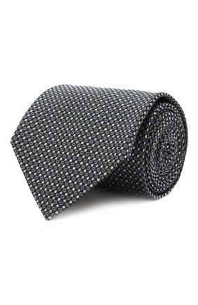 Мужской шелковый галстук BRIONI темно-синего цвета, арт. 062I00/01422   Фото 1