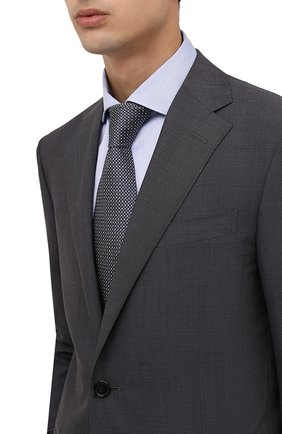 Мужской шелковый галстук BRIONI темно-синего цвета, арт. 062I00/01422   Фото 2