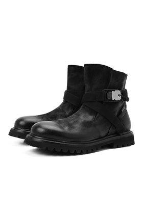 Мужские кожаные сапоги PREMIATA черного цвета, арт. 31916/VINZ | Фото 1 (Подошва: Плоская; Материал внутренний: Натуральная кожа; Мужское Кросс-КТ: Сапоги-обувь)