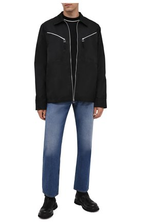 Мужские кожаные сапоги PREMIATA черного цвета, арт. 31916/VINZ | Фото 2 (Подошва: Плоская; Материал внутренний: Натуральная кожа; Мужское Кросс-КТ: Сапоги-обувь)