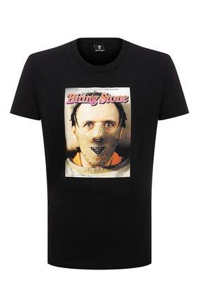 Мужская хлопковая футболка DIEGO VENTURINO черного цвета, арт. FW21-DV TS0 BSP | Фото 1