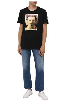 Мужская хлопковая футболка DIEGO VENTURINO черного цвета, арт. FW21-DV TS0 BSP | Фото 2