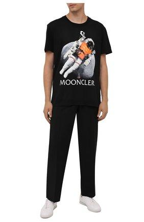 Мужская хлопковая футболка DIEGO VENTURINO черного цвета, арт. FW21-DV TS0 MSC   Фото 2