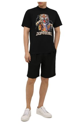 Мужская хлопковая футболка DOMREBEL черного цвета, арт. MRAGE/B0X T/25SW | Фото 2