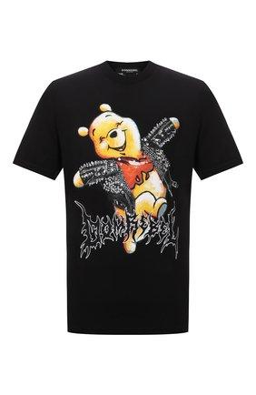 Мужская хлопковая футболка DOMREBEL черного цвета, арт. MHAPPY/B0X T/25SW | Фото 1
