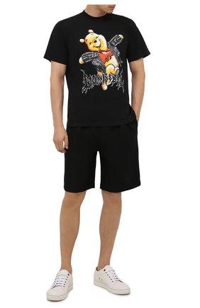 Мужская хлопковая футболка DOMREBEL черного цвета, арт. MHAPPY/B0X T/25SW | Фото 2