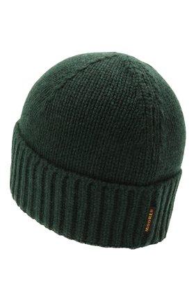 Мужская кашемировая шапка MOORER зеленого цвета, арт. BERET-CWS/M0UBE100001-TEPA177 | Фото 2