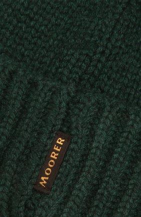 Мужская кашемировая шапка MOORER зеленого цвета, арт. BERET-CWS/M0UBE100001-TEPA177 | Фото 3 (Материал: Кашемир, Шерсть; Кросс-КТ: Трикотаж)