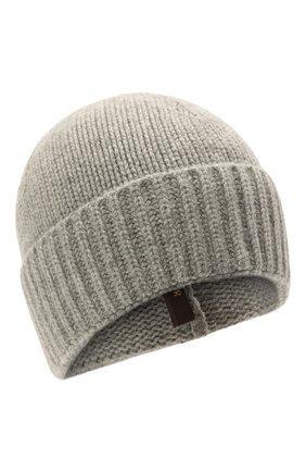 Мужская кашемировая шапка MOORER серого цвета, арт. BERET-CWS/M0UBE100001-TEPA177 | Фото 1