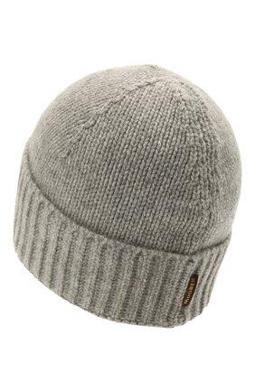 Мужская кашемировая шапка MOORER серого цвета, арт. BERET-CWS/M0UBE100001-TEPA177 | Фото 2