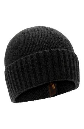 Мужская кашемировая шапка MOORER черного цвета, арт. BERET-CWS/M0UBE100001-TEPA177 | Фото 1