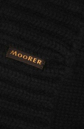 Мужская кашемировая шапка MOORER черного цвета, арт. BERET-CWS/M0UBE100001-TEPA177   Фото 3 (Материал: Кашемир, Шерсть; Кросс-КТ: Трикотаж)