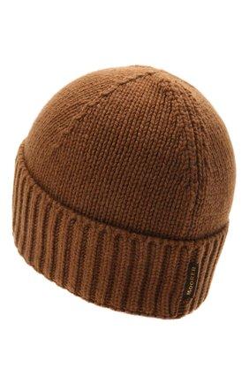 Мужская кашемировая шапка MOORER светло-коричневого цвета, арт. BERET-CWS/M0UBE100001-TEPA177 | Фото 2 (Материал: Шерсть, Кашемир; Кросс-КТ: Трикотаж)
