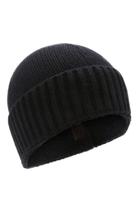 Мужская кашемировая шапка MOORER темно-синего цвета, арт. BERET-CWS/M0UBE100001-TEPA177 | Фото 1 (Материал: Кашемир, Шерсть; Кросс-КТ: Трикотаж)