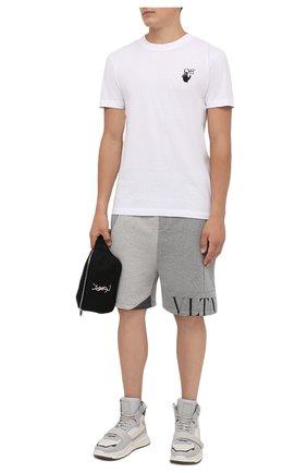 Мужские кожаные кроссовки b-ball BALMAIN светло-серого цвета, арт. WM1VG230/LCNK | Фото 2 (Материал внутренний: Натуральная кожа; Подошва: Массивная; Стили: Гранж)