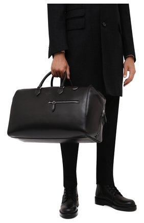 Мужская кожаная дорожная сумка BERLUTI черного цвета, арт. M229486   Фото 2
