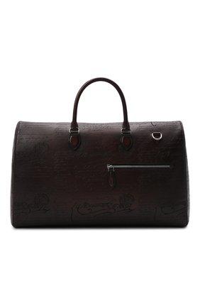 Мужская кожаная дорожная сумка BERLUTI темно-коричневого цвета, арт. M229487   Фото 1