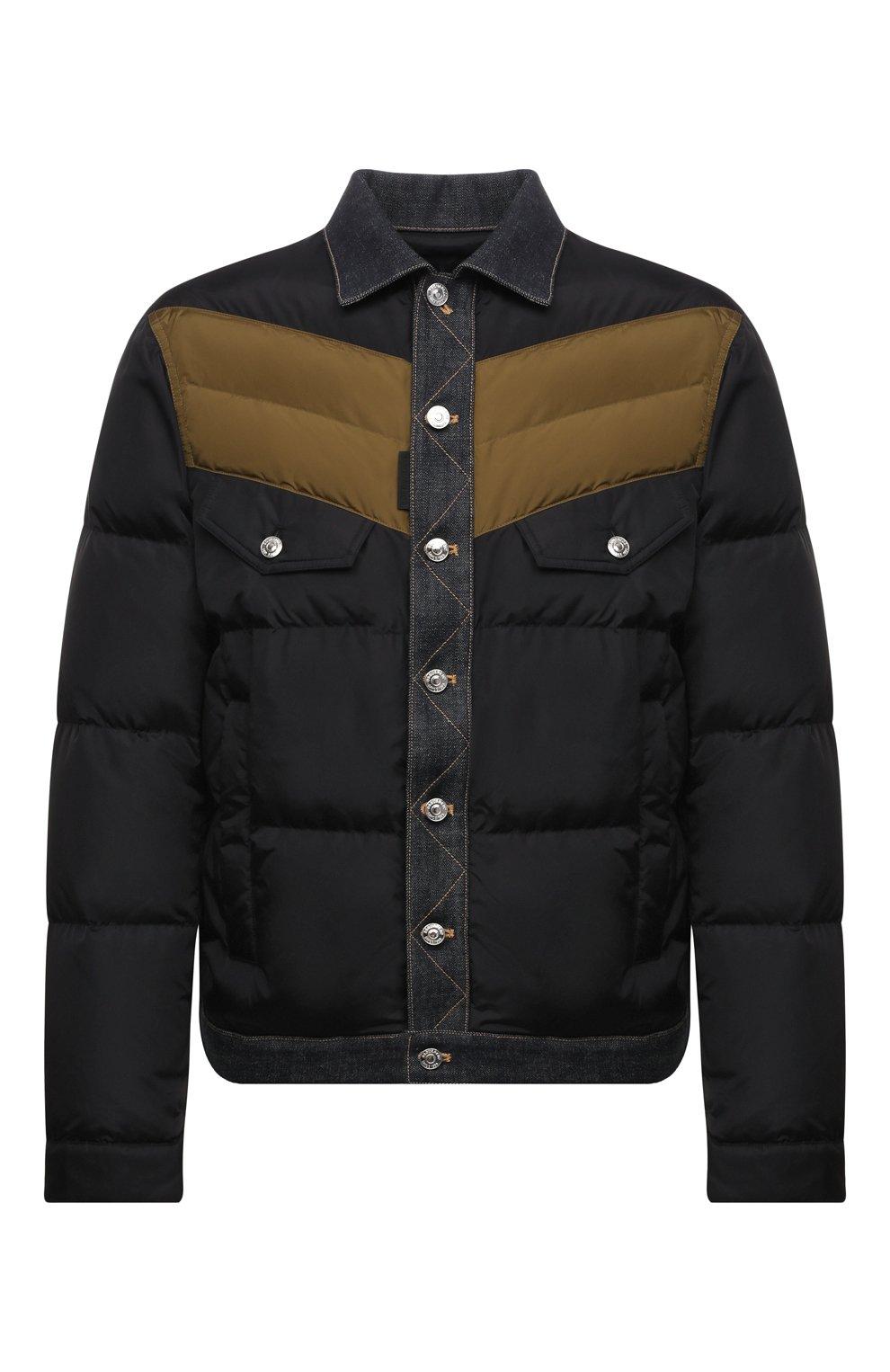 Мужская пуховая куртка DSQUARED2 темно-синего цвета, арт. S74AM1193/S53817   Фото 1 (Кросс-КТ: Куртка; Мужское Кросс-КТ: пуховик-короткий; Рукава: Длинные; Материал внешний: Синтетический материал; Стили: Гранж; Материал подклада: Синтетический материал; Длина (верхняя одежда): Короткие; Материал утеплителя: Пух и перо)
