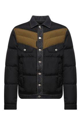 Мужская пуховая куртка DSQUARED2 темно-синего цвета, арт. S74AM1193/S53817 | Фото 1