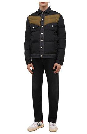 Мужская пуховая куртка DSQUARED2 темно-синего цвета, арт. S74AM1193/S53817 | Фото 2