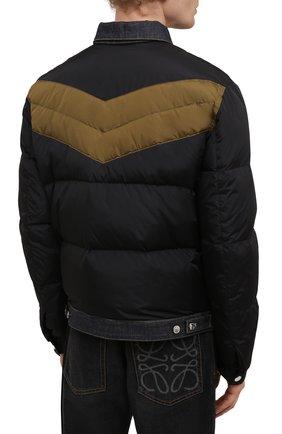 Мужская пуховая куртка DSQUARED2 темно-синего цвета, арт. S74AM1193/S53817   Фото 4 (Кросс-КТ: Куртка; Мужское Кросс-КТ: пуховик-короткий; Рукава: Длинные; Материал внешний: Синтетический материал; Стили: Гранж; Материал подклада: Синтетический материал; Длина (верхняя одежда): Короткие; Материал утеплителя: Пух и перо)