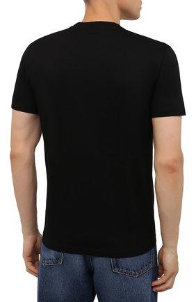Мужская хлопковая футболка DSQUARED2 черного цвета, арт. S71GD1071/S23009 | Фото 4 (Рукава: Короткие; Стили: Панк; Длина (для топов): Стандартные; Принт: С принтом; Материал внешний: Хлопок)