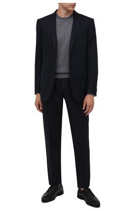 Мужские кожаные дерби CORNELIANI черного цвета, арт. 88TM09-1820957 | Фото 2 (Материал утеплителя: Натуральный мех; Стили: Классический)