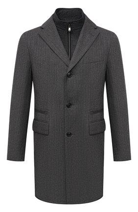 Мужской шерстяное пальто CORNELIANI темно-серого цвета, арт. 881590-1812402/00 | Фото 1
